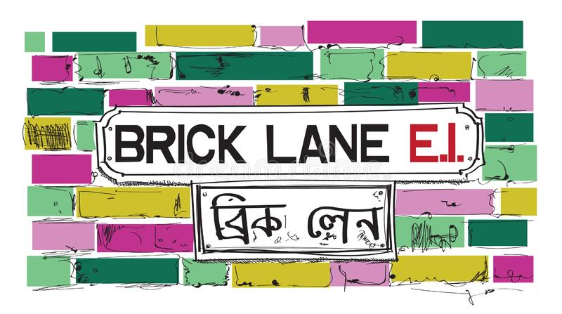 Sinal da pista do tijolo ilustração da vizinhança de Londres ilustração royalty free