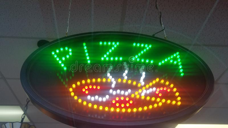 Sinal da pizza fotos de stock royalty free