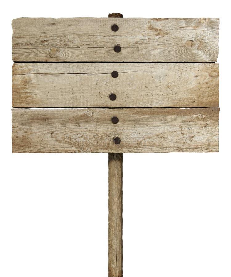 Sinal da placa de madeira ilustração do vetor