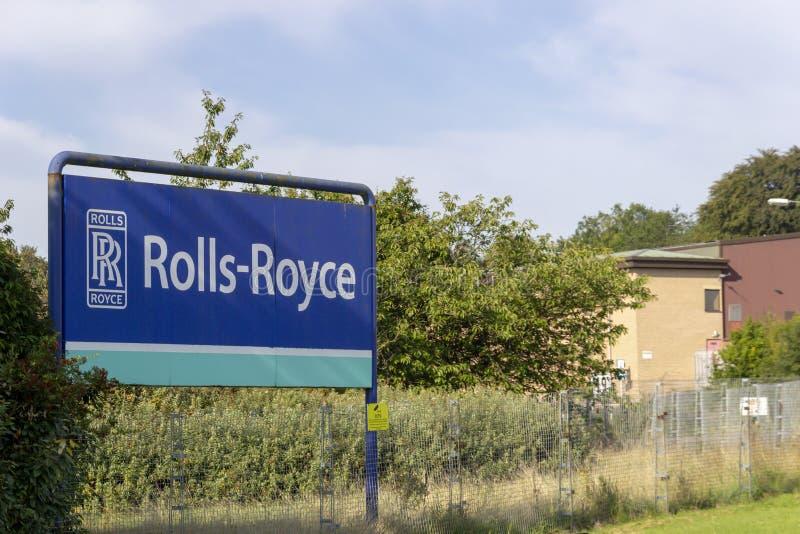 Sinal da planta de Rolls Royce dentro do leste - kilbride fotos de stock