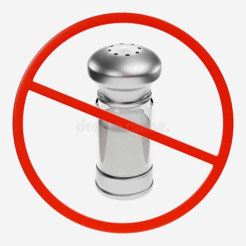 Sinal da proibição com sal ilustração royalty free