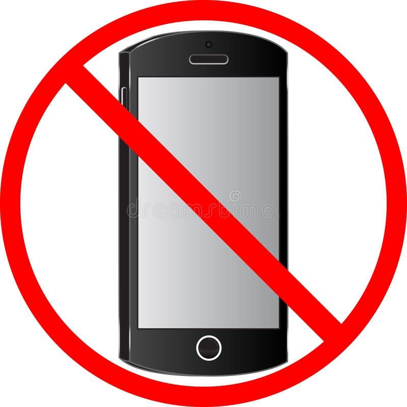 Sinal da proibição do uso dos telefones celulares ilustração stock