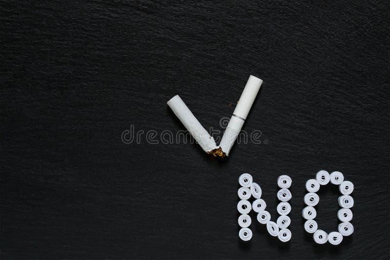 Sinal da proibição no fumo imagem de stock