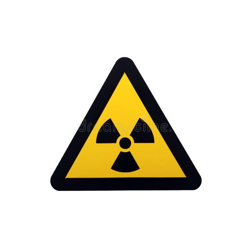 Sinal da radiação imagens de stock royalty free