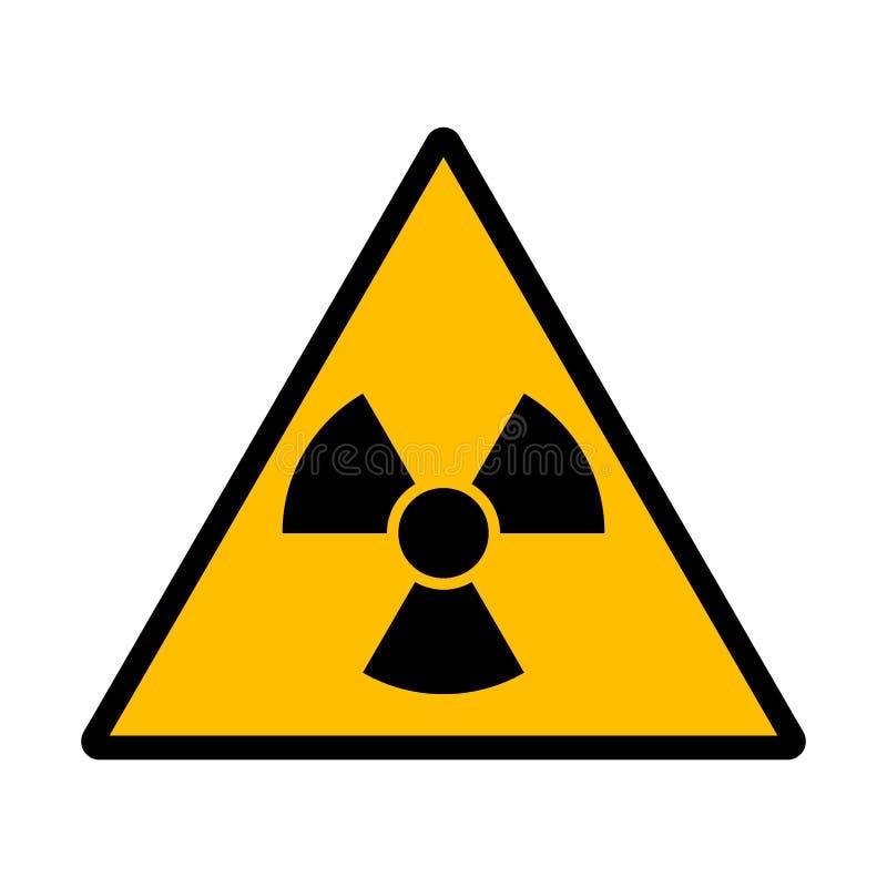 Sinal da radiação do perigo ilustração do vetor