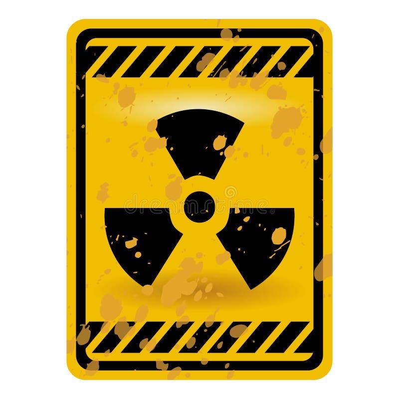 Sinal da radioactividade ilustração stock