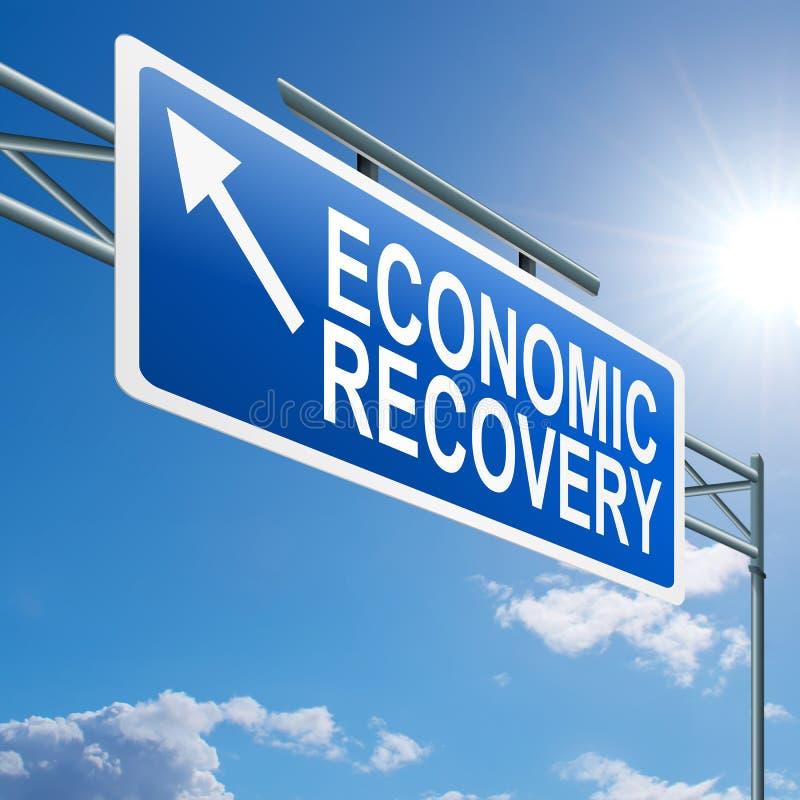 Sinal da recuperação económica. ilustração royalty free