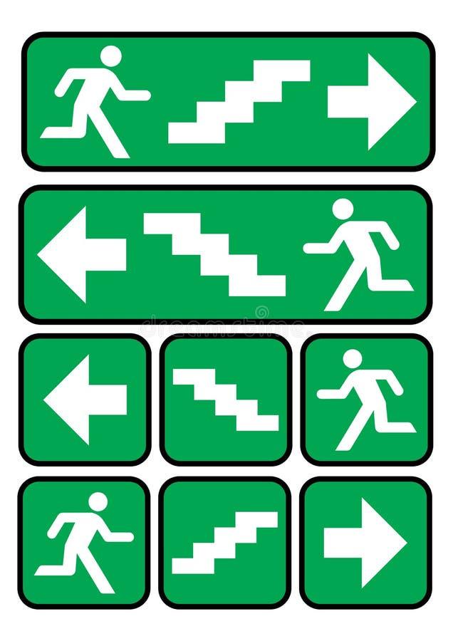 Sinal da saída de emergência ilustração do vetor