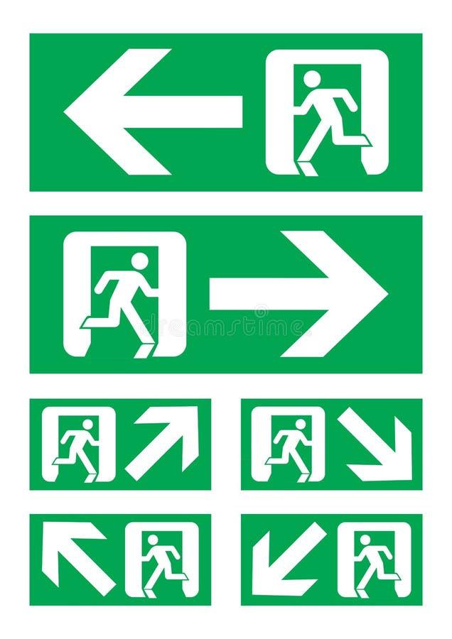 Sinal da saída de emergência ilustração royalty free