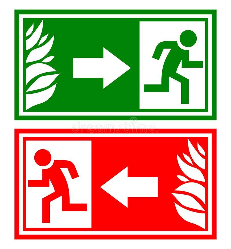 Sinal da saída de emergência ilustração stock