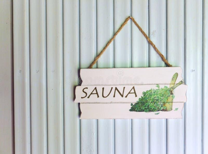 Sinal da sauna imagens de stock