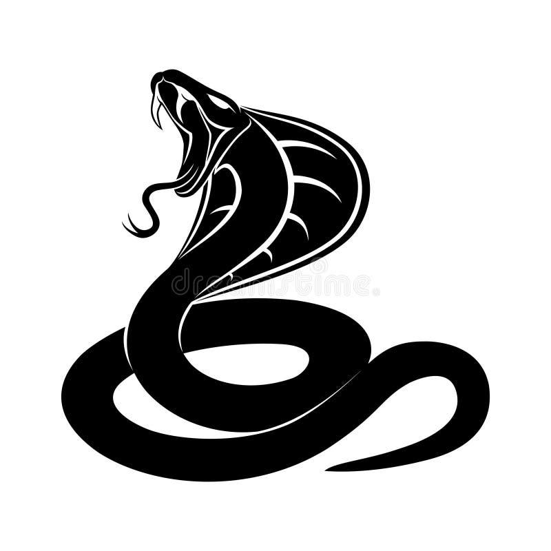 Sinal da serpente da cobra ilustração royalty free