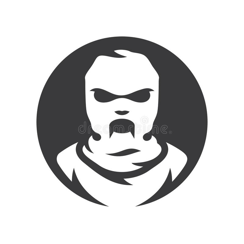 Sinal da silhueta do vetor da máscara do zombi do passa-montanhas ilustração royalty free