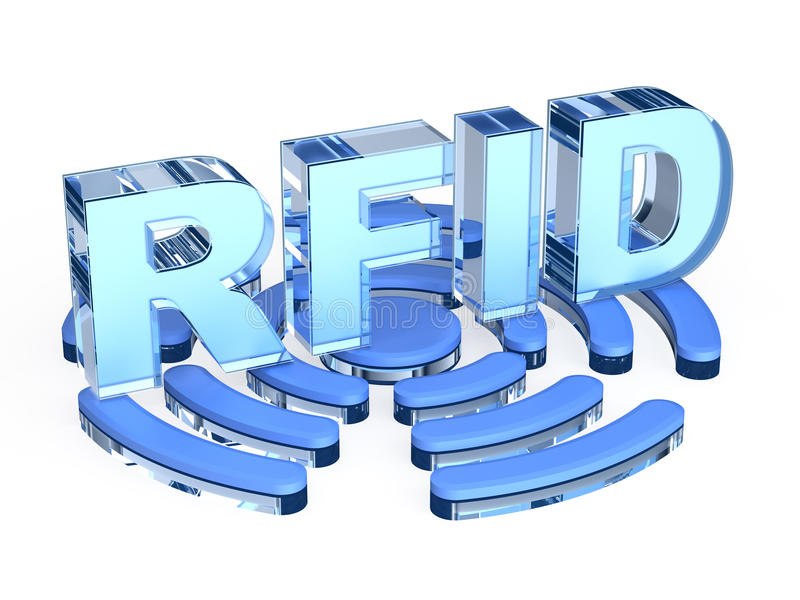 Sinal da tecnologia do RFID ilustração stock