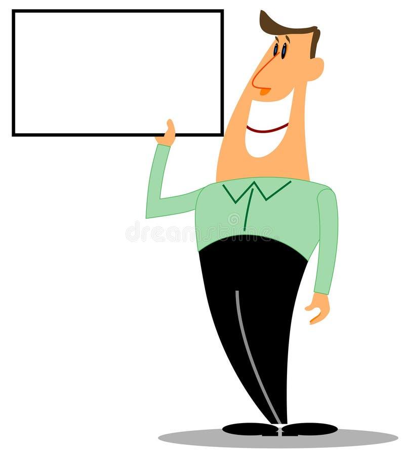 Download Sinal Da Terra Arrendada Do Homem Ilustração Stock - Ilustração de exibição, pessoa: 10063031