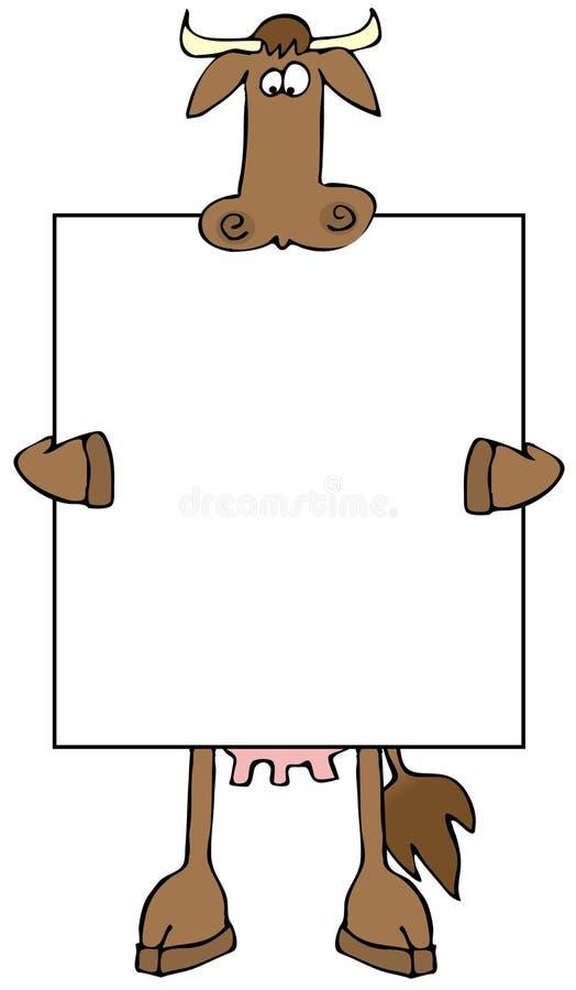 Sinal da vaca ilustração stock