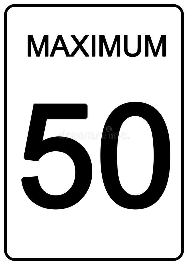 Sinal da velocidade de Maximun ilustração do vetor
