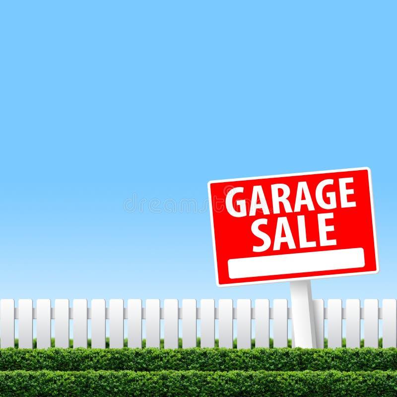 Sinal da venda de garagem