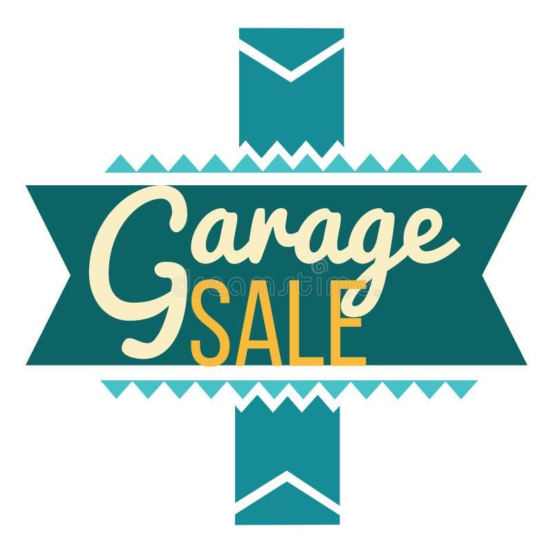 Sinal da venda de garagem que anuncia negócios Molde dos Logotypes com ilustração total do vetor da venda Oferta especial e venda ilustração royalty free