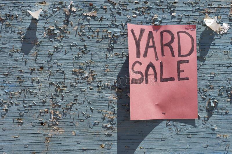Sinal da venda de jardim foto de stock royalty free