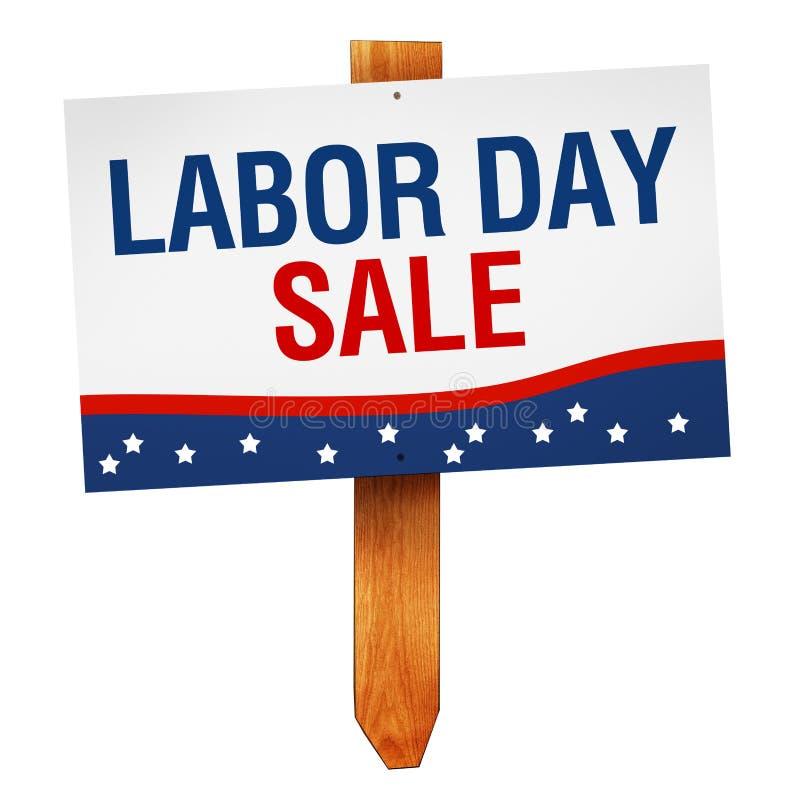 Sinal da venda do Dia do Trabalhador isolado no fundo branco ilustração royalty free