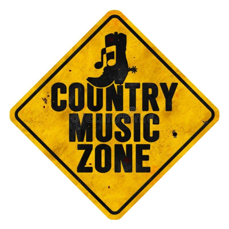 Sinal da zona da música country imagem de stock
