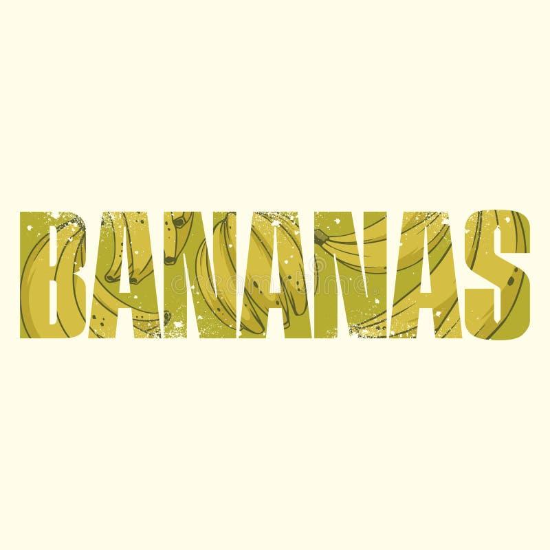 Sinal das bananas ilustração stock