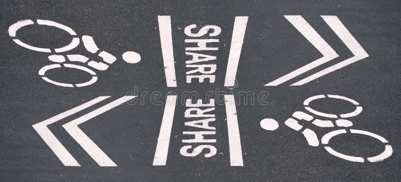 Sinal das bicicletas imagem de stock