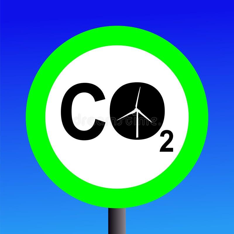 Sinal das energias eólicas ilustração stock