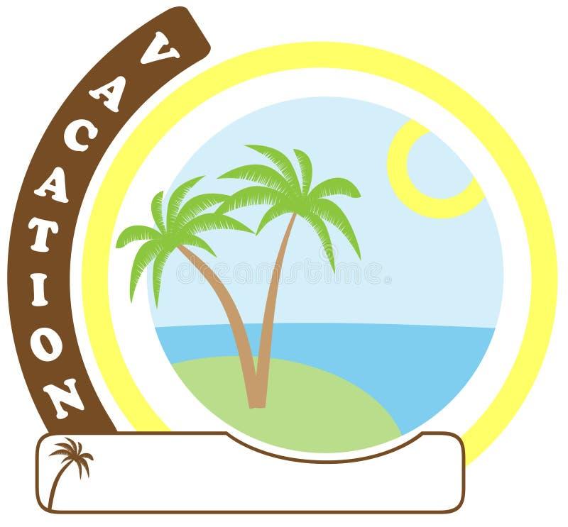 Sinal das férias ilustração do vetor