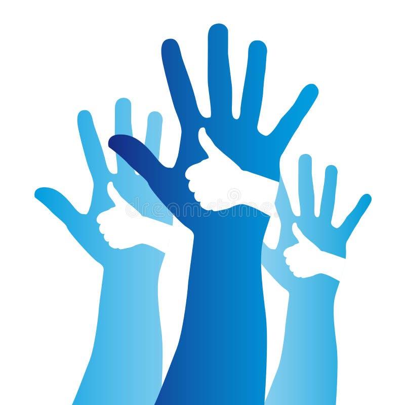 Sinal das mãos ilustração do vetor