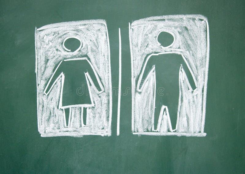 Sinal das mulheres e dos homens imagem de stock