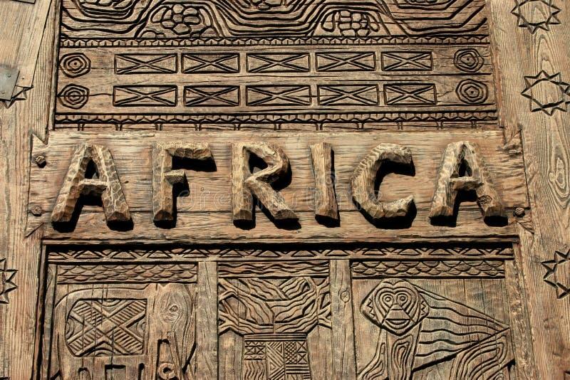 Sinal de África imagem de stock