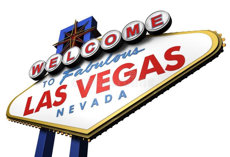 sinal de 3d Las Vegas, Nevada ilustração royalty free