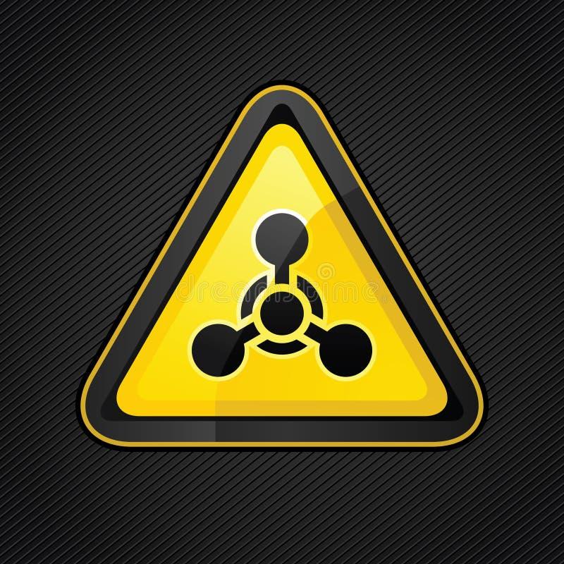Sinal de advertência da arma química do triângulo do perigo ilustração stock