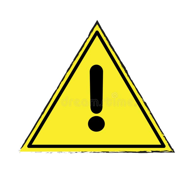 Sinal de advertência da atenção do perigo Vector a ilustração, EPS10 fotografia de stock royalty free