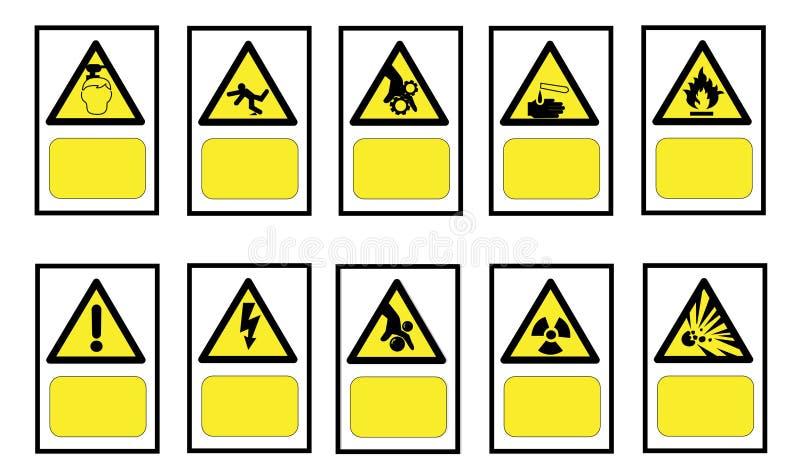 Sinal de advertência da atenção do perigo Vector a ilustração, EPS10 foto de stock
