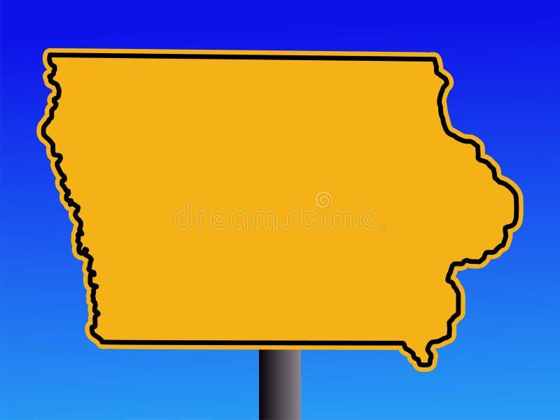 Sinal de advertência de Iowa ilustração stock