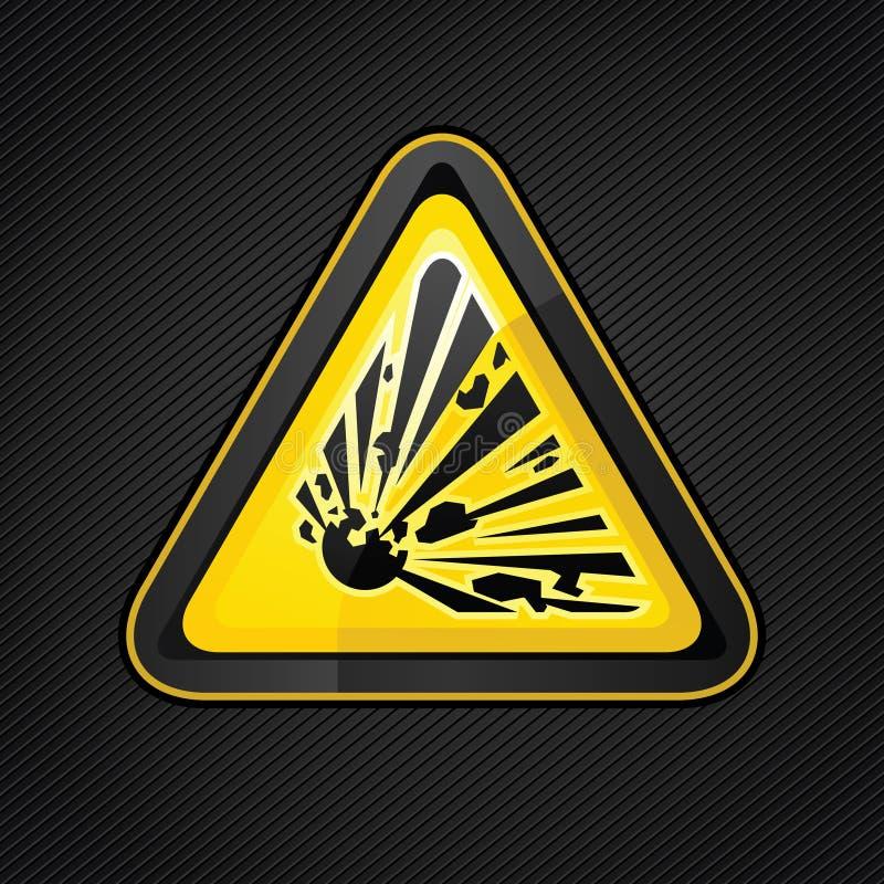 Sinal de advertência do explosivo do triângulo do perigo ilustração stock