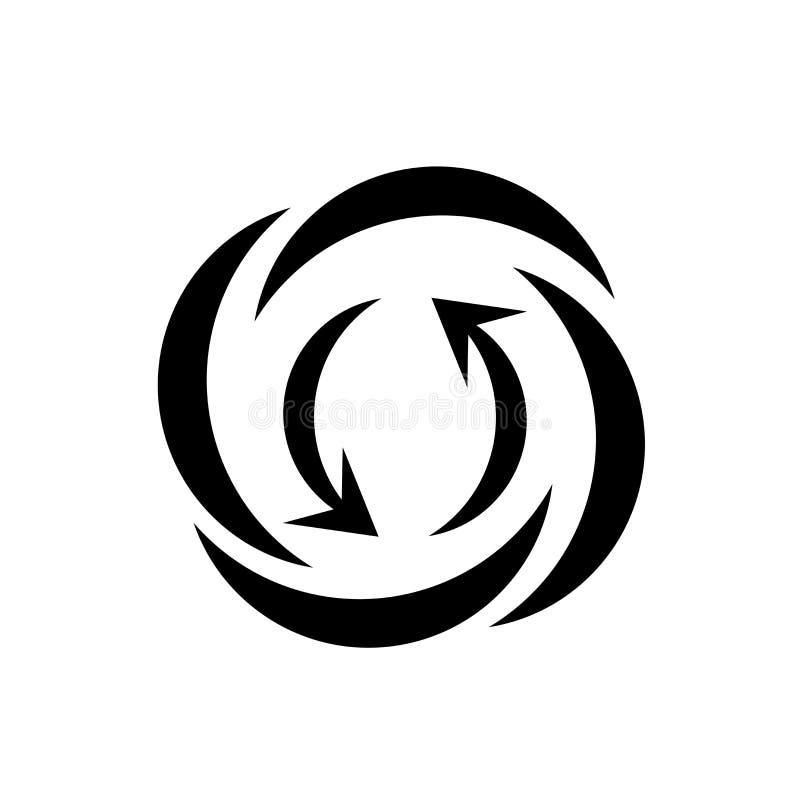 Sinal de advertência e símbolo do vetor do ícone do relâmpago isolados no fundo branco, conceito de advertência do logotipo do re ilustração royalty free