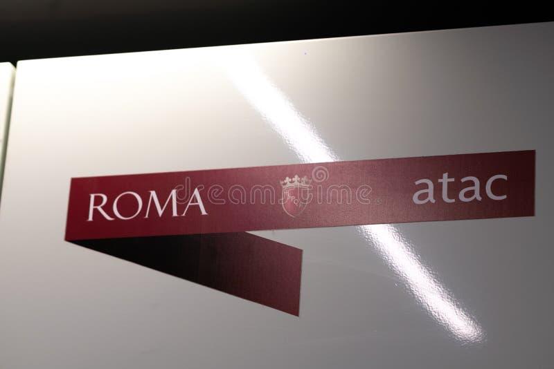 Sinal de Atac Roma imagens de stock