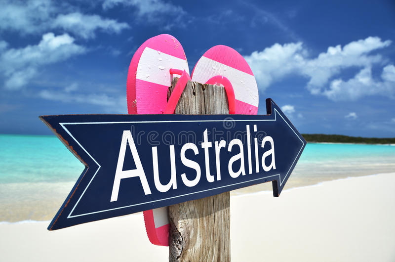 Sinal de Austrália imagens de stock royalty free