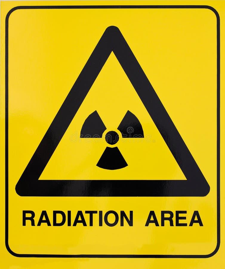 Sinal de aviso da radiação nuclear fotografia de stock royalty free