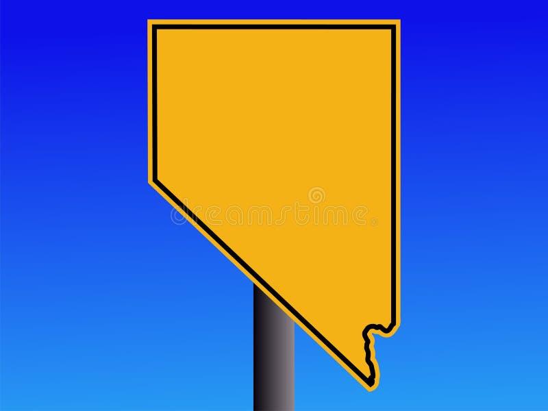 Sinal de aviso de Nevada ilustração do vetor