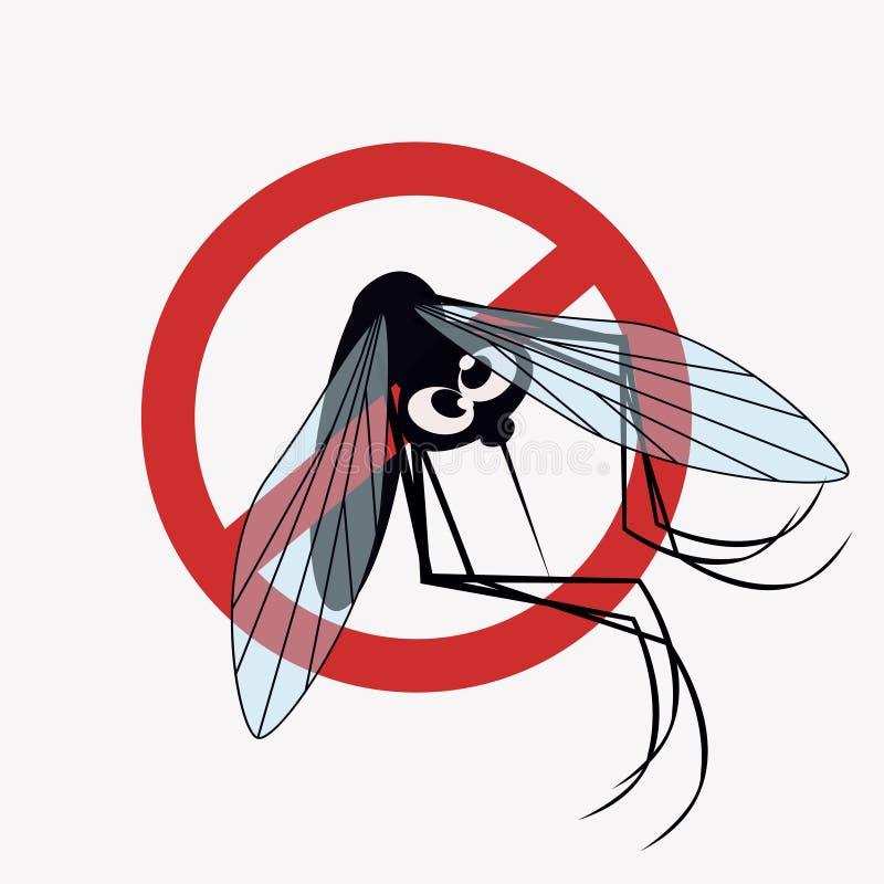 Sinal de aviso do mosquito fotos de stock