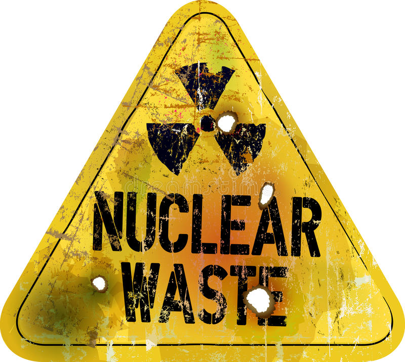 Resíduos nucleares ilustração royalty free