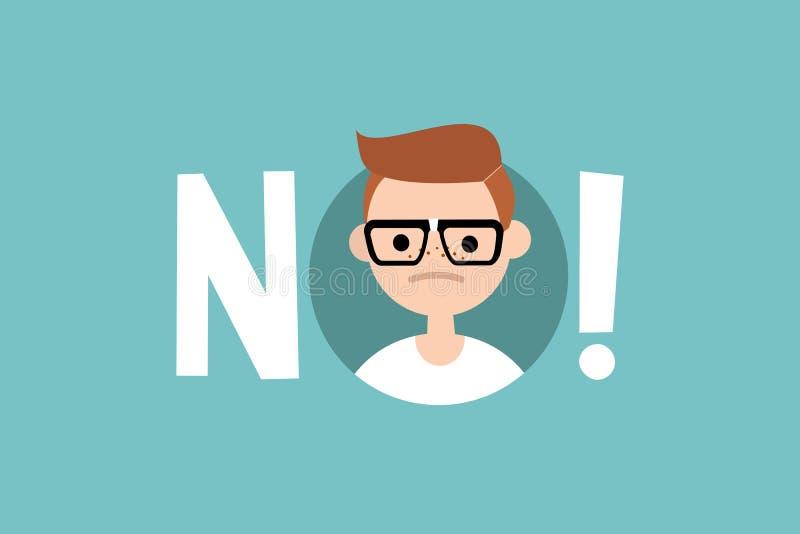 Sinal de aviso: o lerdo novo diz não ilustração do vetor