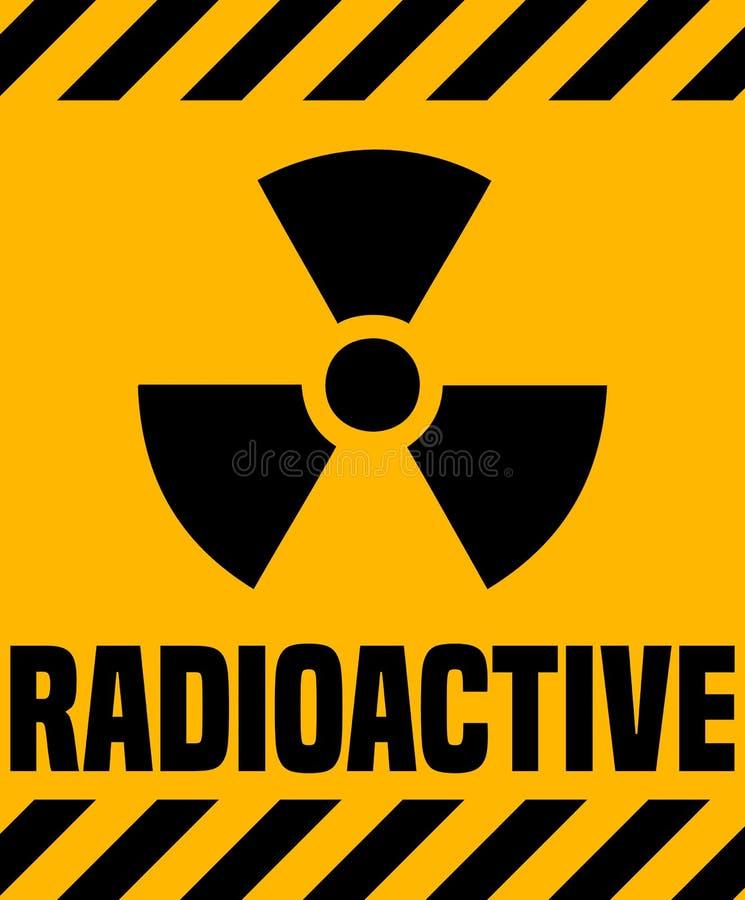 Sinal de aviso radioativo ilustração do vetor