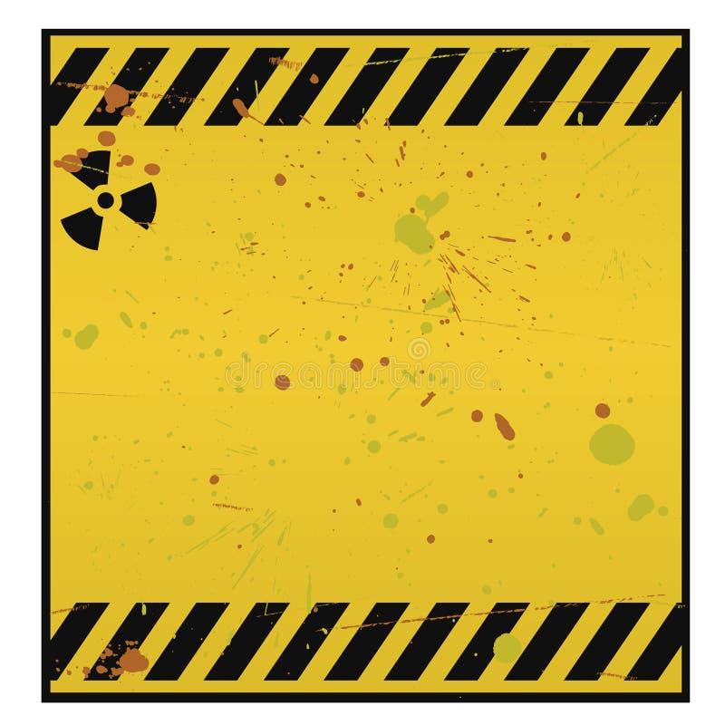 Sinal de aviso radioativo ilustração royalty free