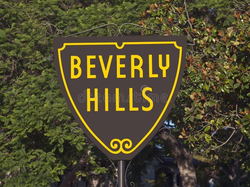 Sinal de Beverly Hills fotos de stock